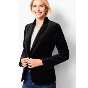 TALBOTS || NEW $169 velvet jacket blazer coat